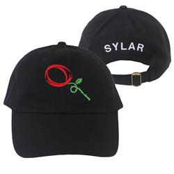 Circle Rose Black Dad Hat