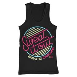 Sweat It Out Black Tank Top