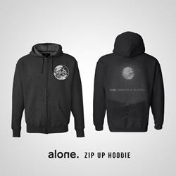 alone. - alone. Black Zip-Up Sweatshirt
