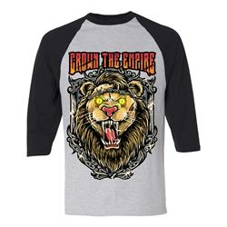 Lion Heather/Black Baseball Tee