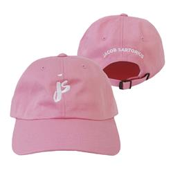 White Logo Pink Dad Hat