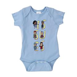 Cartoon Band Baby Blue Onesie