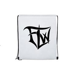 Logo White Cinch Bag