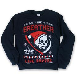 Grim Reaper Navy Holiday Sweater