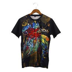 Grow All Over Print Black Custom T-Shirt