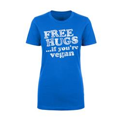 Motive Company Free Hugs If You're Vegan Blue Girls Tee