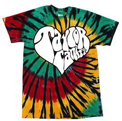 Heart Rasta Tie Dye