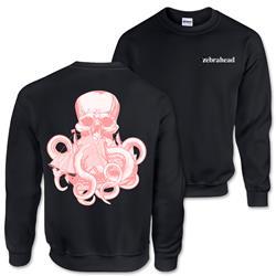 Octopus Black Crewneck