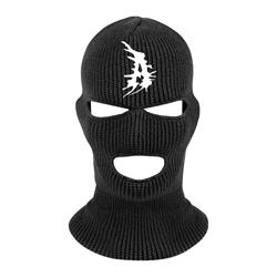 A Logo Black Ski Mask