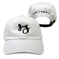 Jess And Gabriel Logo White Dad Hat