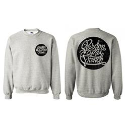 Cursive Heather Grey Crewneck Sweatshirt