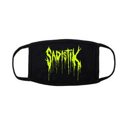 Drip Logo Black Facemask