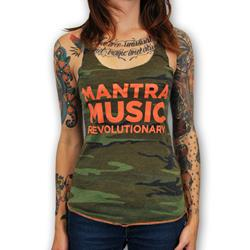 Mantralogy Mantra Music Revolutionary Camo Girl's Tank