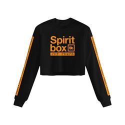 International Cropped Black Crewneck