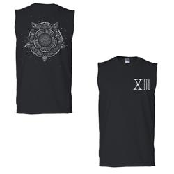 Flower Black Sleeveless Tee