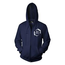 Logo Navy Zip-Up