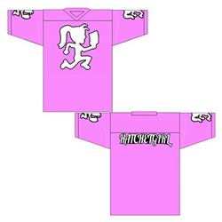 Hatchetgirl Pink Football Jersey