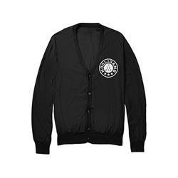 Seal Black Varsity Cardigan Sweater