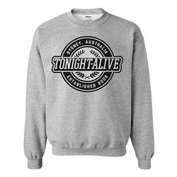 Crest Heather Grey Crewneck Sweatshirt