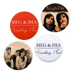 Meg and Dia - Something Real 4 Pins Pack