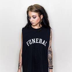 Sleeveless Varsity Black Tee