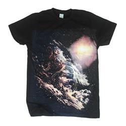All Over Print Black T-Shirt