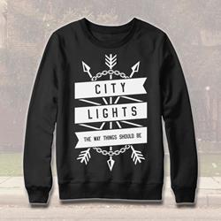 Arrows Black Crewneck Sweatshirt