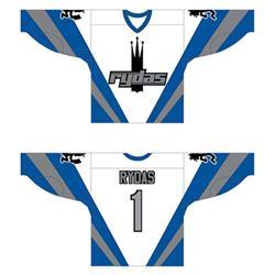 Rydas White/Blue/Grey Hockey Jersey