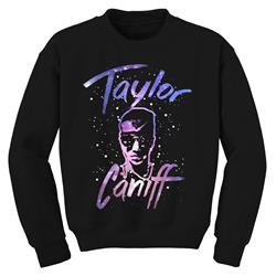 Galaxy Face Black Crewneck