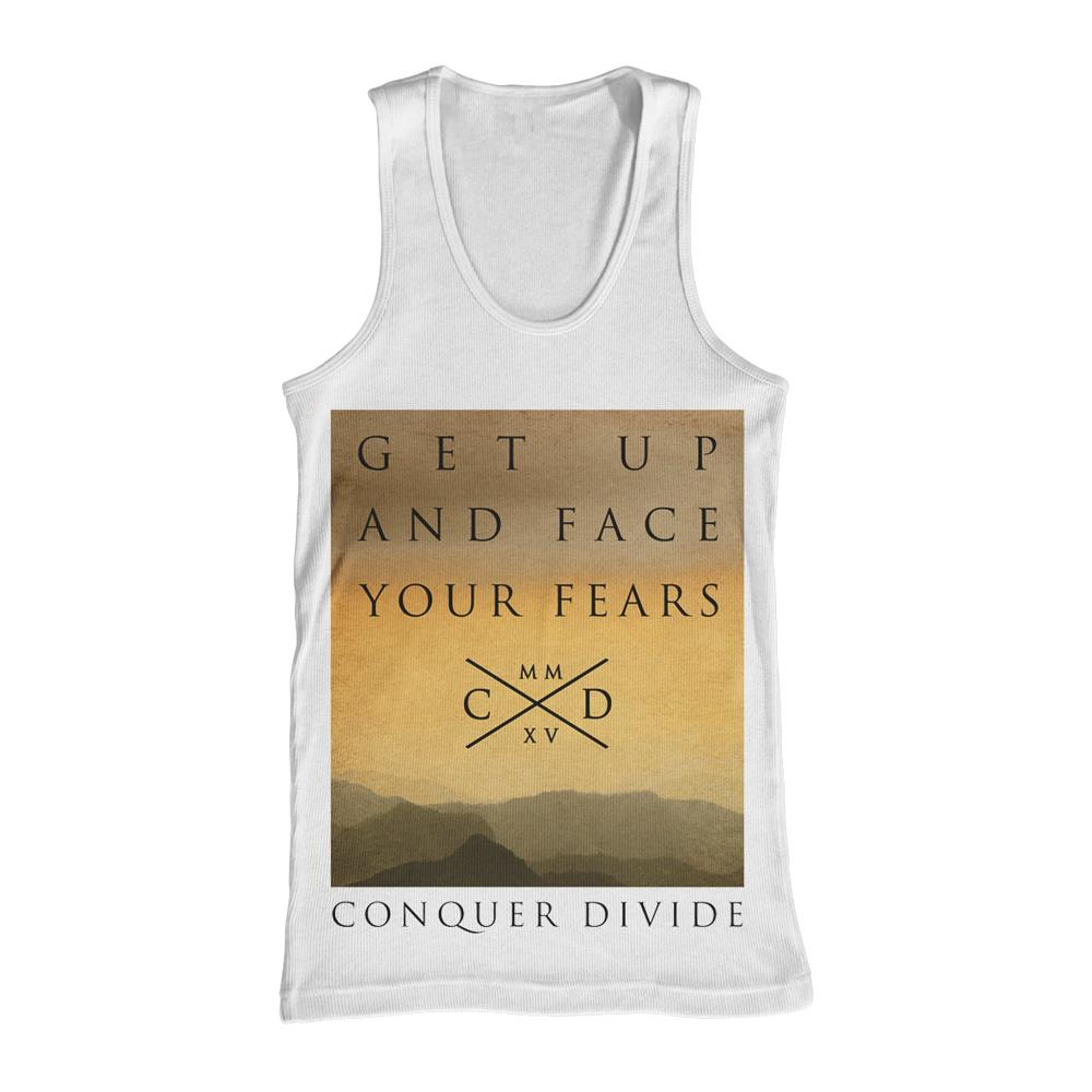 Fears White Tank Top