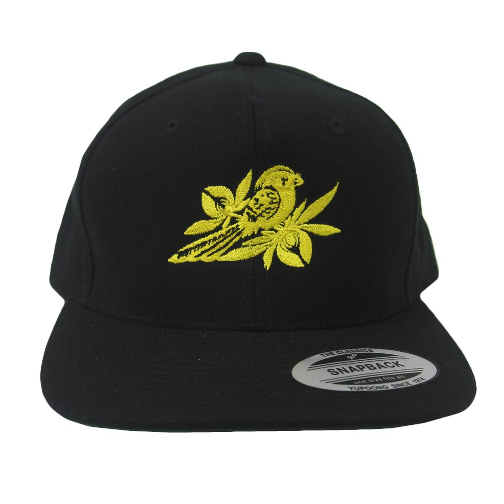 Flat Yellow Logo Black Snapback