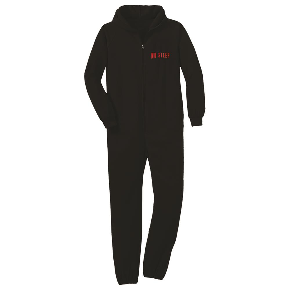 No Sleep And Chill Embroidered Black Onesie
