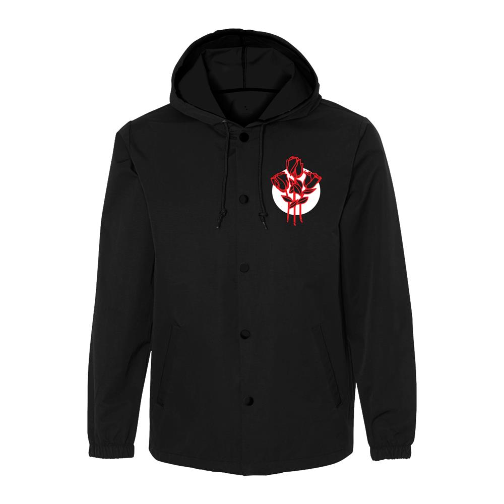 Roses Black Windbreaker