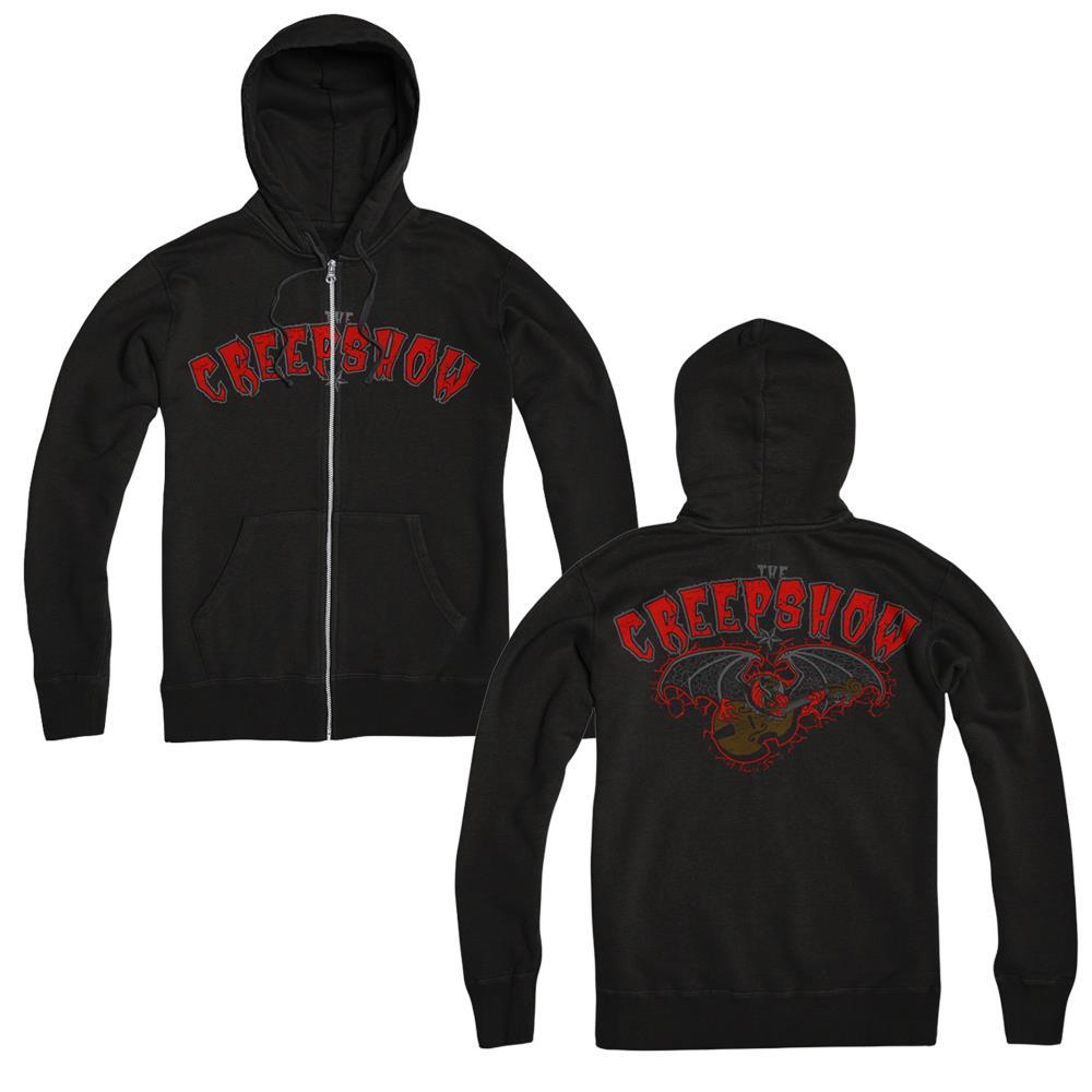 Bass Bat Black Zip-Up Sweatshirt