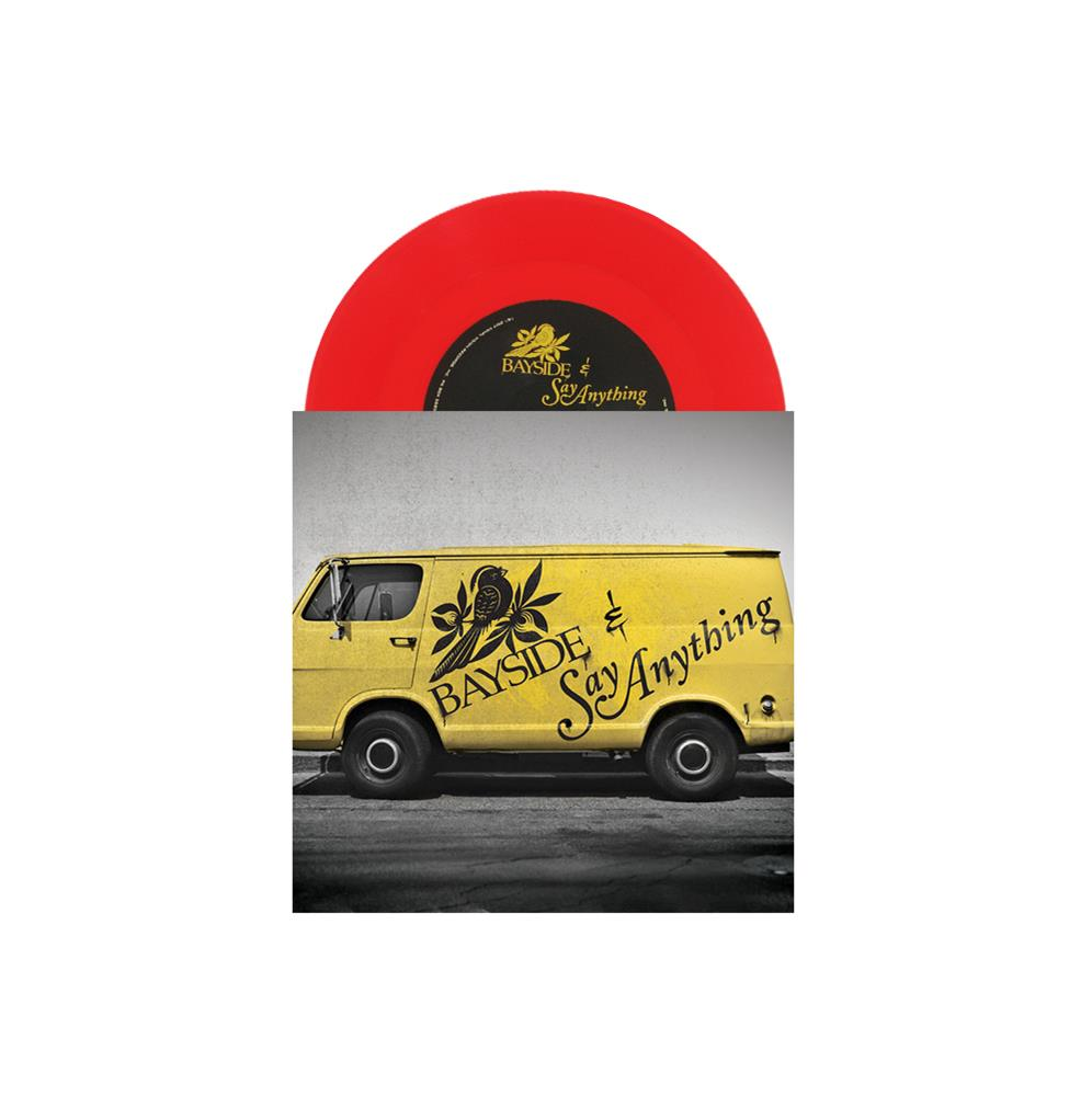 Split With Say Anything Translucent Red 7 Inch Vinyl