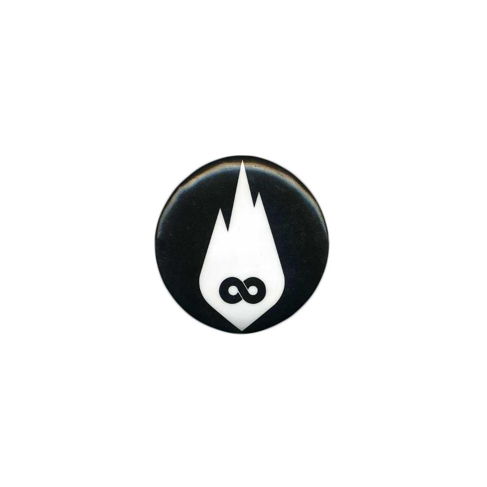 White Infinity Flame Logo Black