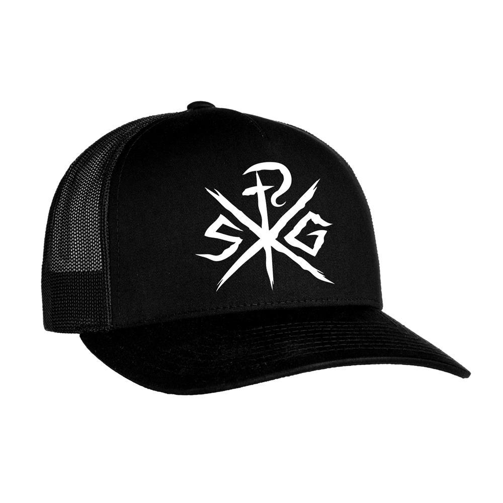 White Logo Black