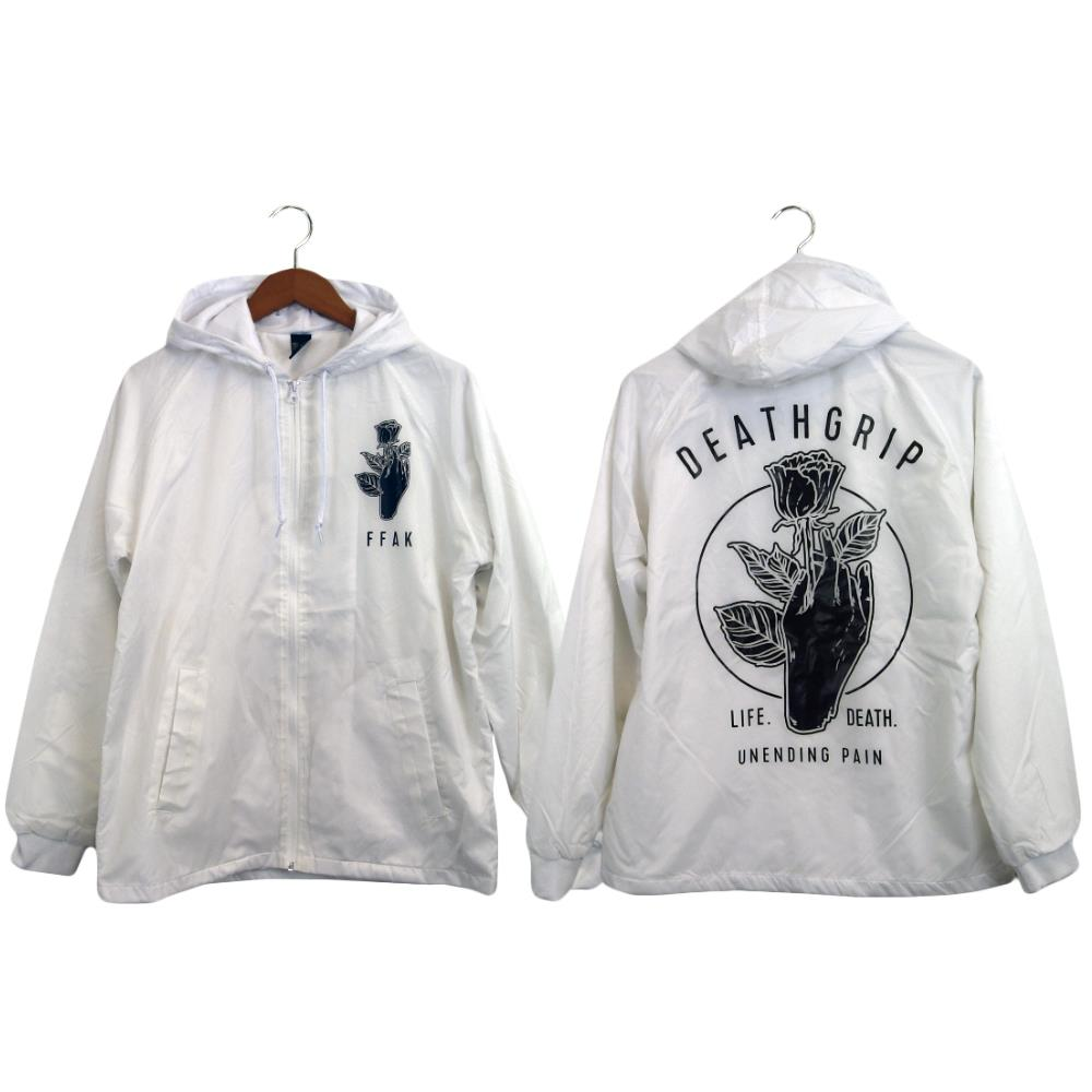 Deathgrip White Windbreaker