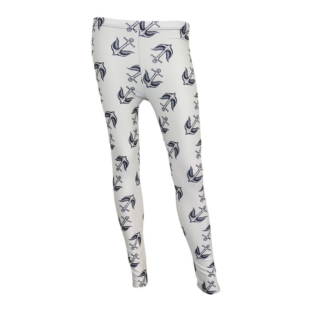 Anchor Bird White Leggings