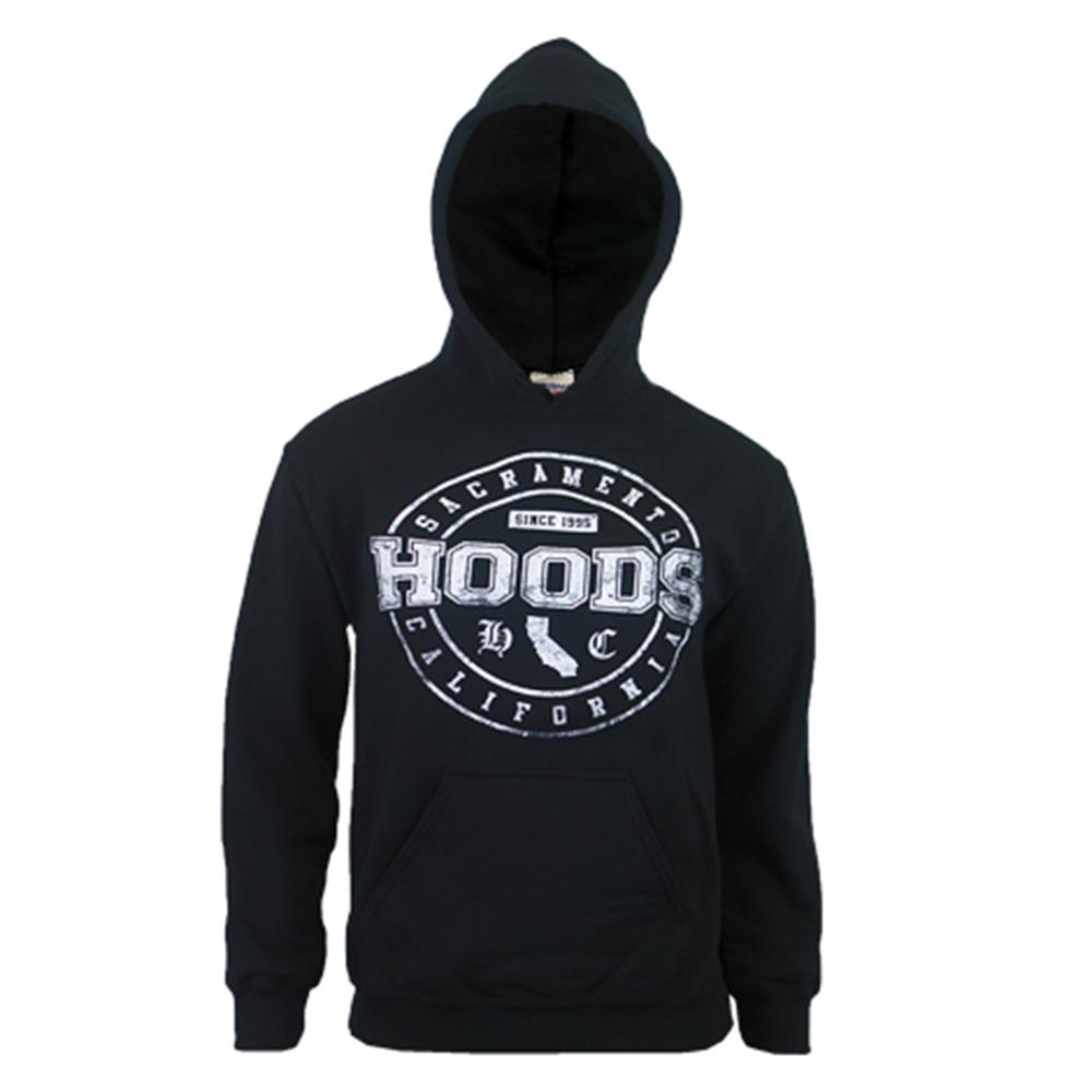 California Black Hooded Pullover