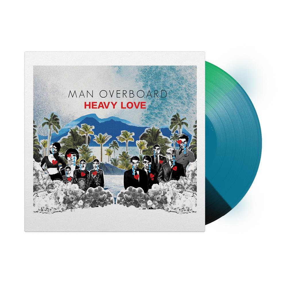 Heavy Love Tri-Color Classic Black / Aqua Blue / Kelly Green Vinyl LP