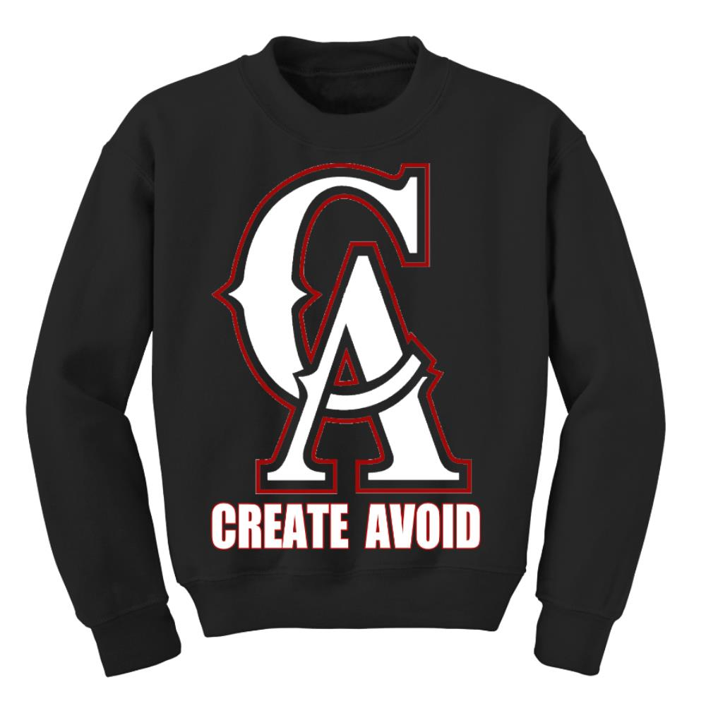 CA Logo Black Crewneck Sale! Final Print!
