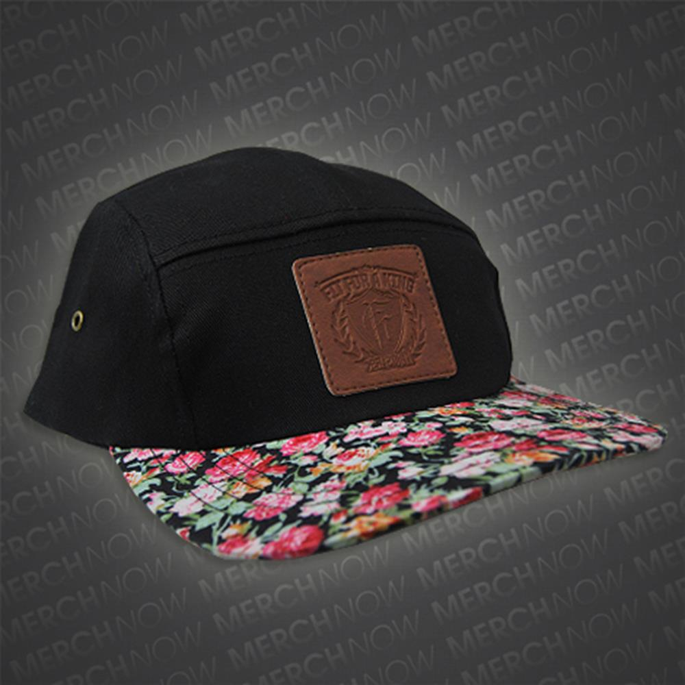 Flower Billed Black 5-Panel Hat