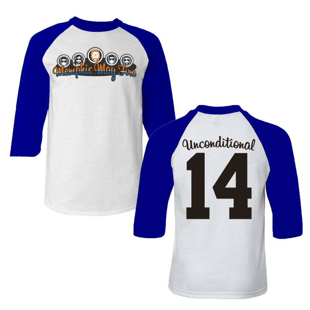 *Limited stock* Cartoon White / Royal Baseball Tee