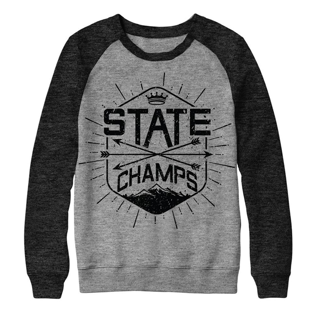 Mountain Black/Grey Crewneck Small