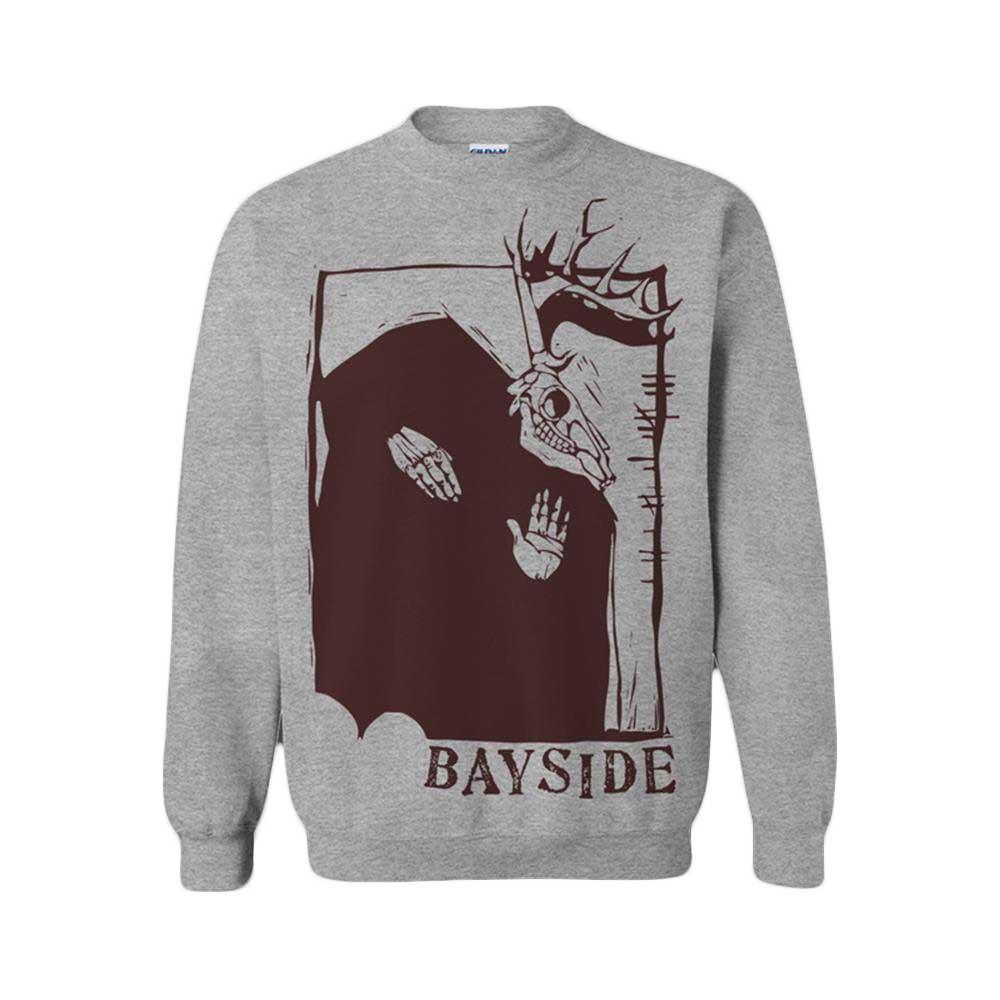 Horned Devil Heather Grey Crewneck Sweatshirt