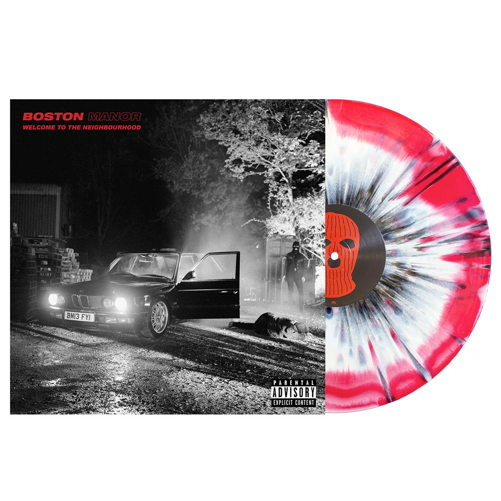 Welcome To The Neighbourhood White/Red With Black Splatter