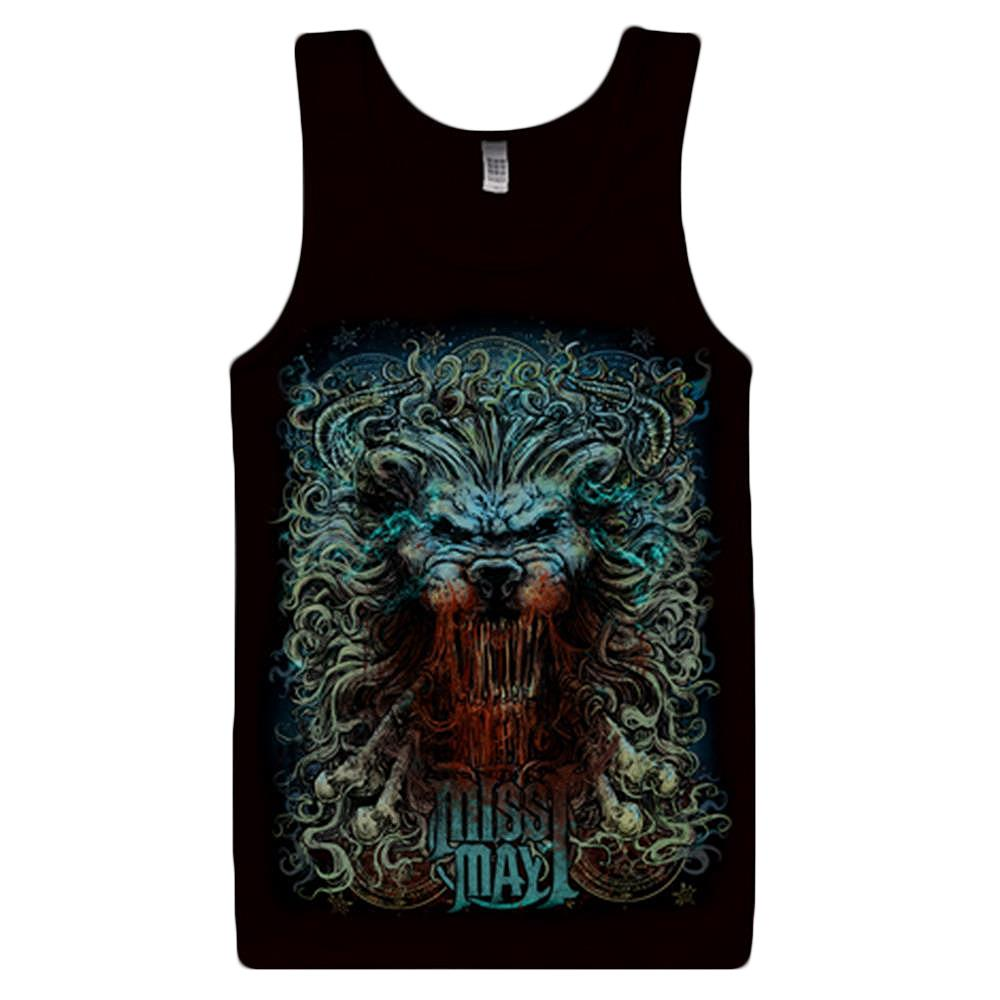 New Lion Black Tank Top