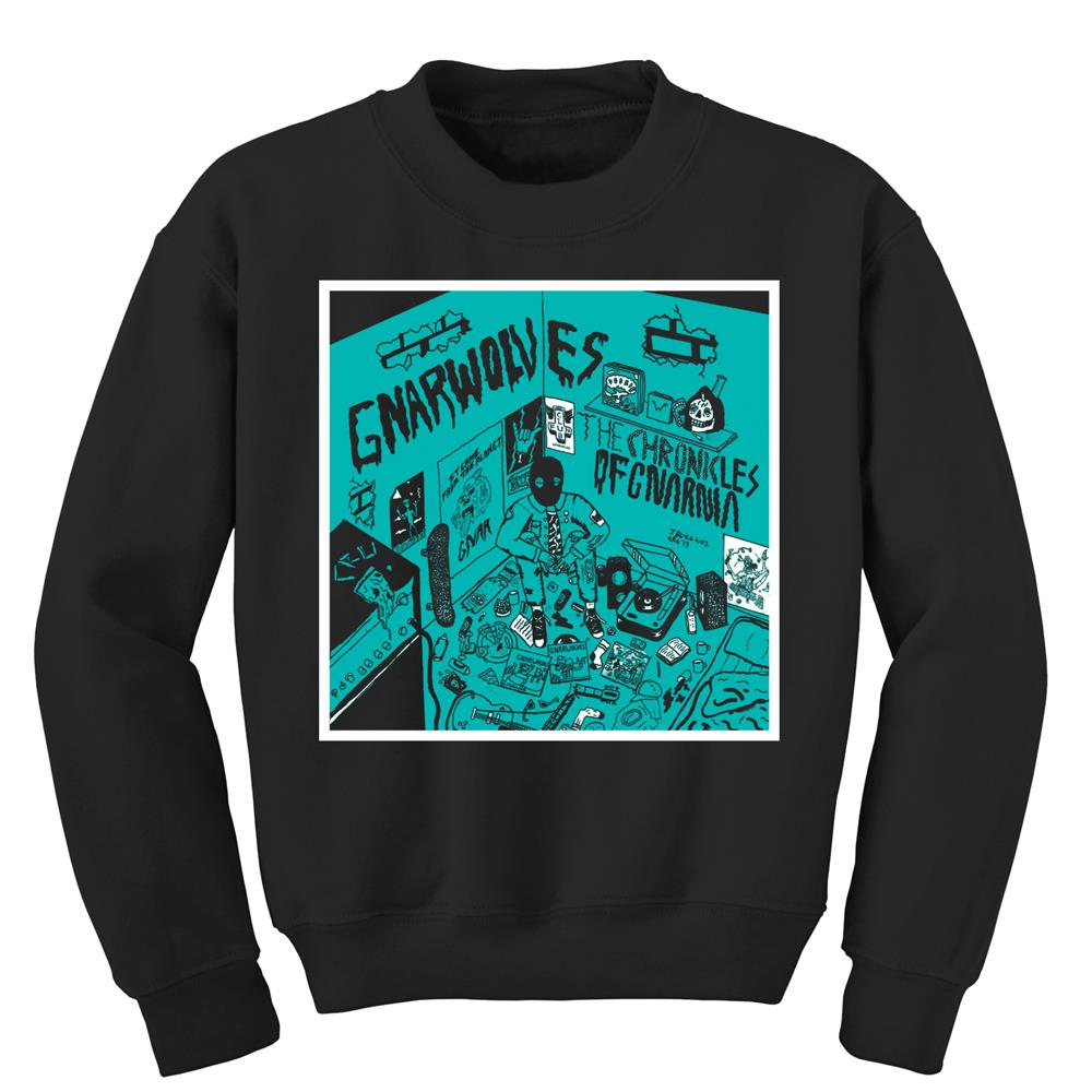 The Chronicles Of Gnarnia Black Crewneck Sweatshirt