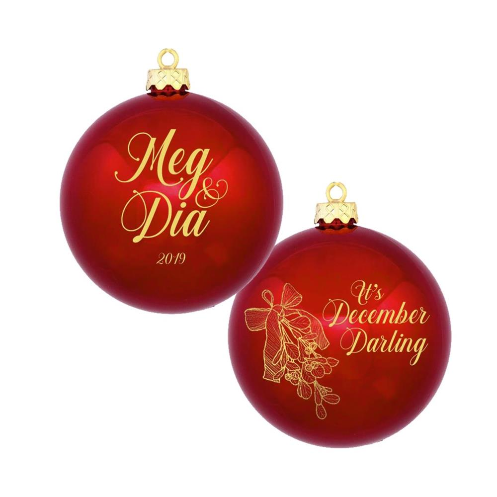 Meg & Dia December, Darling Red Christmas Ornament